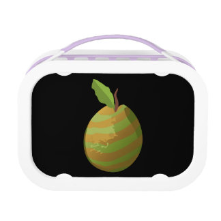 Glitch Food guava striped Lunch Box