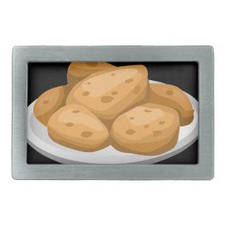 Glitch Food hot potatoes Belt Buckle