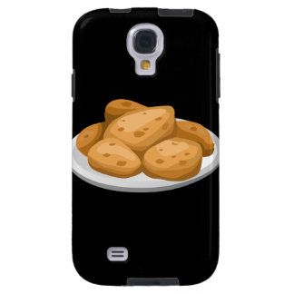 Glitch Food hot potatoes Galaxy S4 Case