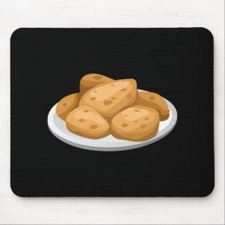 Glitch Food hot potatoes Mouse Pad