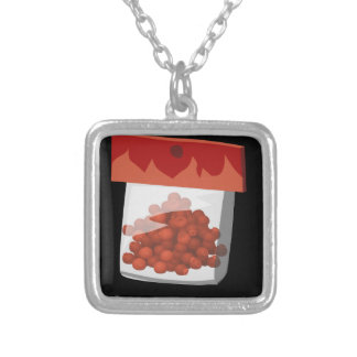 Glitch Food hototot rub Silver Plated Necklace