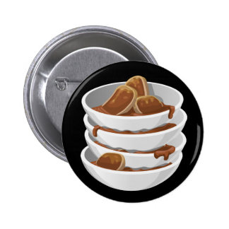 Glitch Food ixstyle braised meat 6 Cm Round Badge