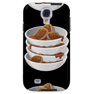 Glitch Food ixstyle braised meat Galaxy S4 Case