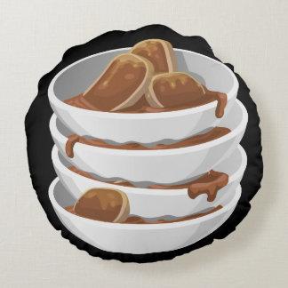 Glitch Food ixstyle braised meat Round Cushion