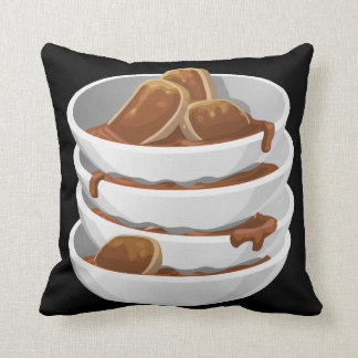 Glitch Food ixstyle braised meat Throw Pillow