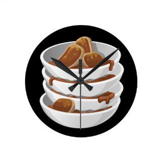 Glitch Food ixstyle braised meat Wallclock