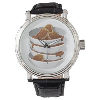 Glitch Food ixstyle braised meat Wrist Watch