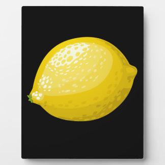 Glitch Food lemon Plaque