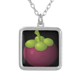Glitch Food mangosteen Silver Plated Necklace