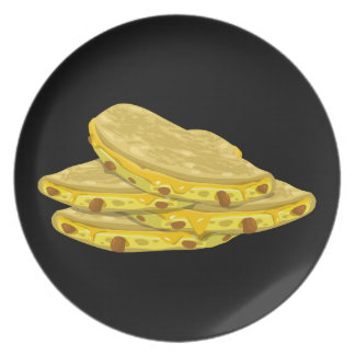 Glitch Food mexicali eggs Party Plates