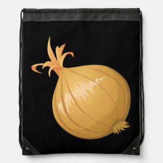 Glitch Food onion Drawstring Bag