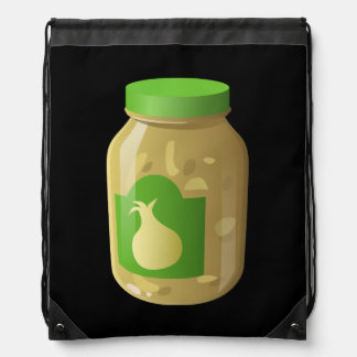 Glitch Food onion sauce Drawstring Bag