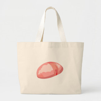 Glitch Food oysters mountain Large Tote Bag
