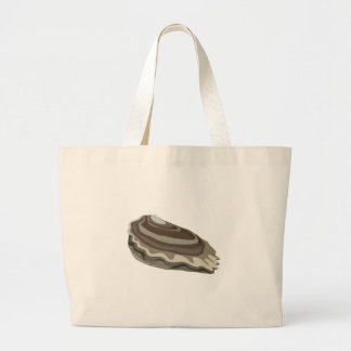 Glitch Food oysters ocean Large Tote Bag