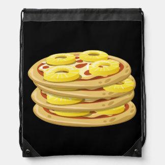 Glitch Food papl upside down pizza Drawstring Bag