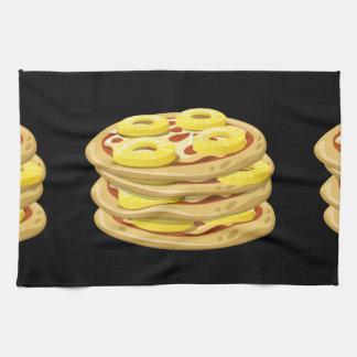 Glitch Food papl upside down pizza Tea Towel
