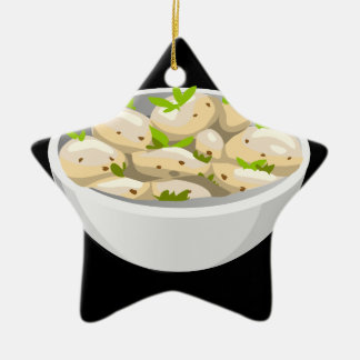 Glitch Food precious potato salad Ceramic Ornament