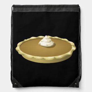 Glitch Food pumpkin pie Drawstring Bag