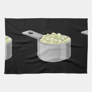 Glitch Food rice Tea Towel