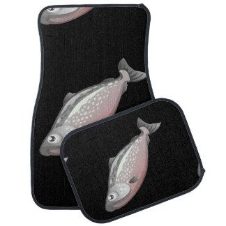 Glitch Food salmon Car Mat