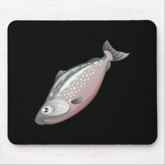 Glitch Food salmon Mouse Pad