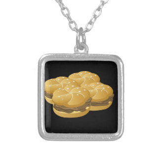 Glitch Food sammich Silver Plated Necklace