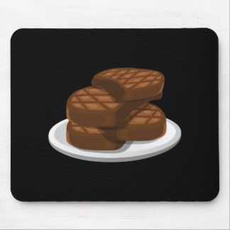 Glitch Food simple bbq Mouse Pad