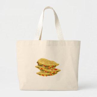 Glitch Food spicy quesadilla Large Tote Bag