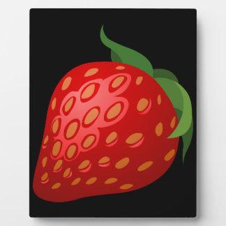 Glitch Food strawberry Plaque