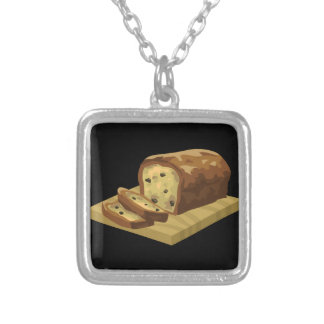 Glitch Food swank zucchini loaf Silver Plated Necklace
