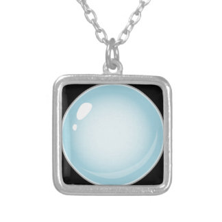 Glitch Food tiny bubble Silver Plated Necklace