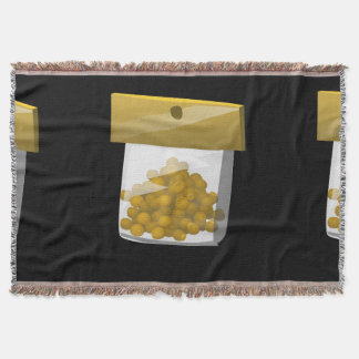 Glitch Food trump rub Throw Blanket