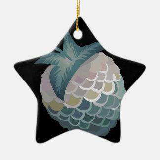 Glitch Food tuna berry Ceramic Star Decoration
