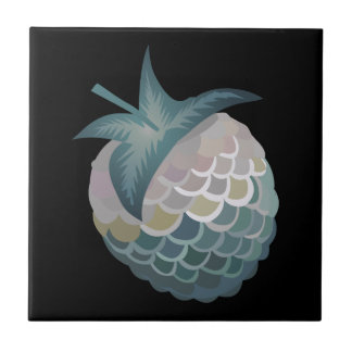 Glitch Food tuna berry Ceramic Tile