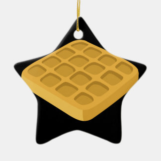 Glitch Food waffles Ceramic Ornament