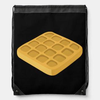 Glitch Food waffles Drawstring Bag