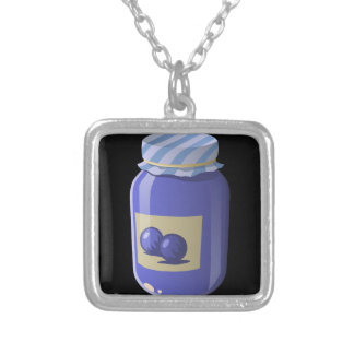 Glitch Food whortleberry jelly Silver Plated Necklace