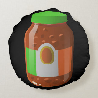 Glitch Food wicked bolognese sauce Round Cushion