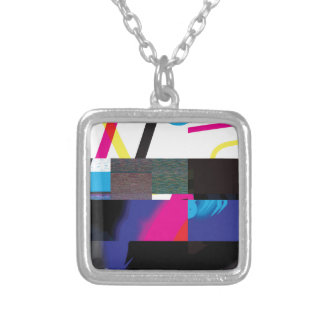 Glitch Number Seven Silver Plated Necklace