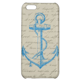 Glitter Anchor iPhone 5C Covers