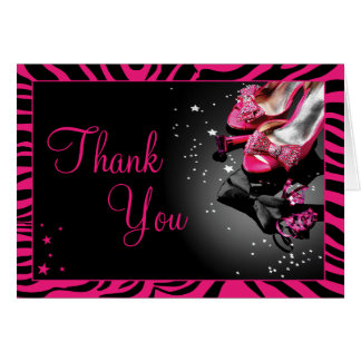 Glitter and Glam Thank You Note Card