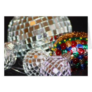 Glitter Balls Christmas Card