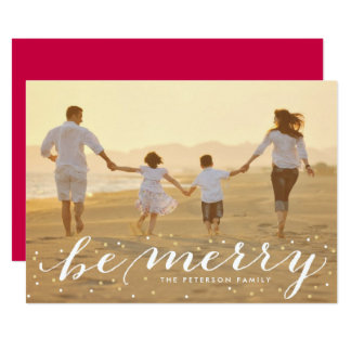 Glitter Be Merry Holiday Photo Card