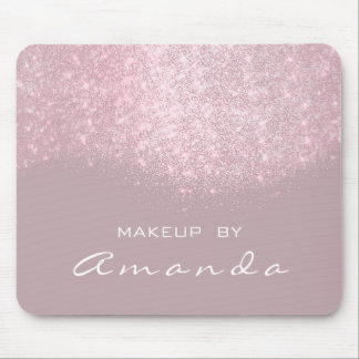 Glitter Beauty Studio Makeup Name Pink White Mouse Pad