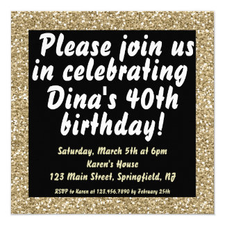 Glitter Birthday Invite