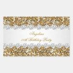 Glitter Birthday Party Gold Diamond Trim Any Age