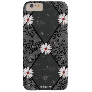 Glitter Black Red Velvet Argyle Girly White Daisy Barely There iPhone 6 Plus Case