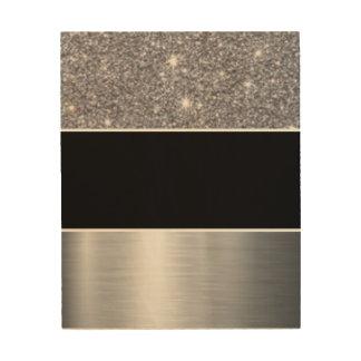Glitter Black Silver Pattern Print Design