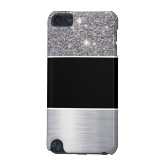 Glitter Black Silver Pattern Print Design iPod Touch 5G Covers