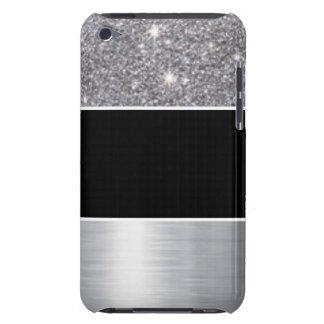 Glitter Black Silver Pattern Print Design iPod Touch Cases